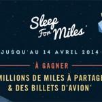 Air France et American express font gagner des Miles en dormant