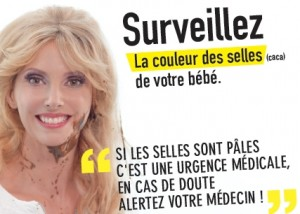 une minute blonde de prévention pour dépister les maladies du foie chez les bébéss