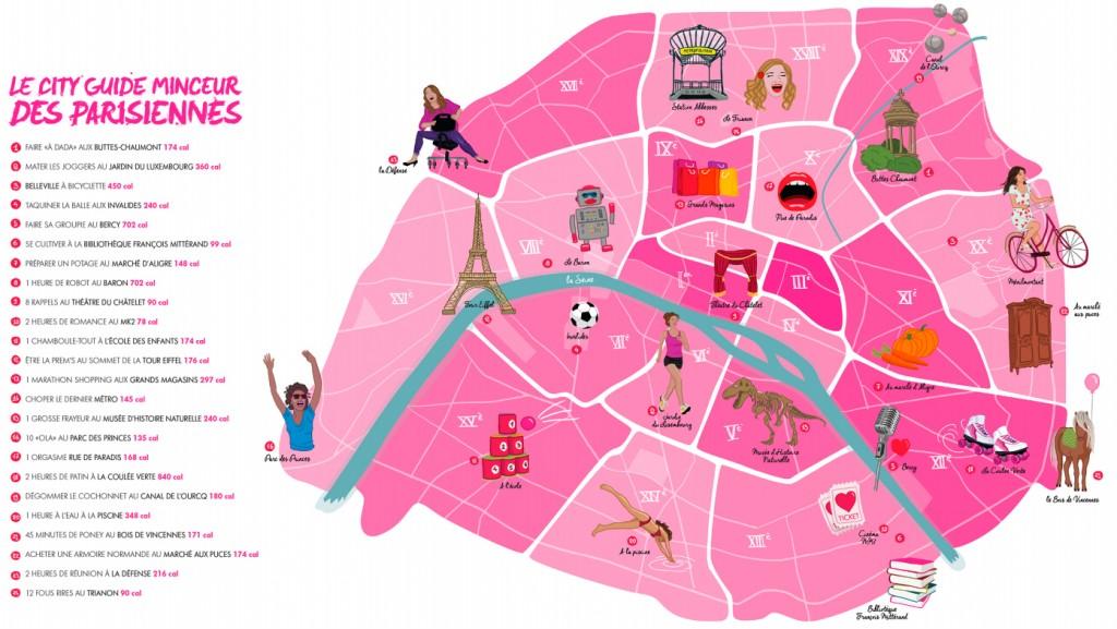 un city guide montre via le plan de paris toutes les activités disponibles dans la capitale française