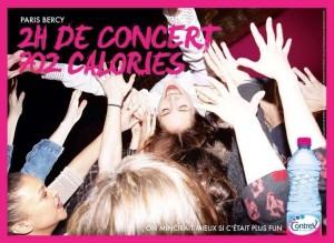 2h de concert à Bercy 702 calories