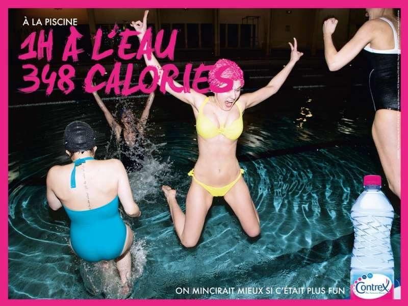 1h de piscine 348 calories