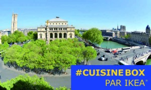 Cuisiner depuis la terrasse du Châtelet pour vos amis ou votre famille du 14 au 25 mai avec CUISINEBOX d'IKEA