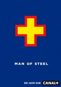 Vous reconnaîtrez forcément les couleurs de Superman pour l'affiche de Man of Steel