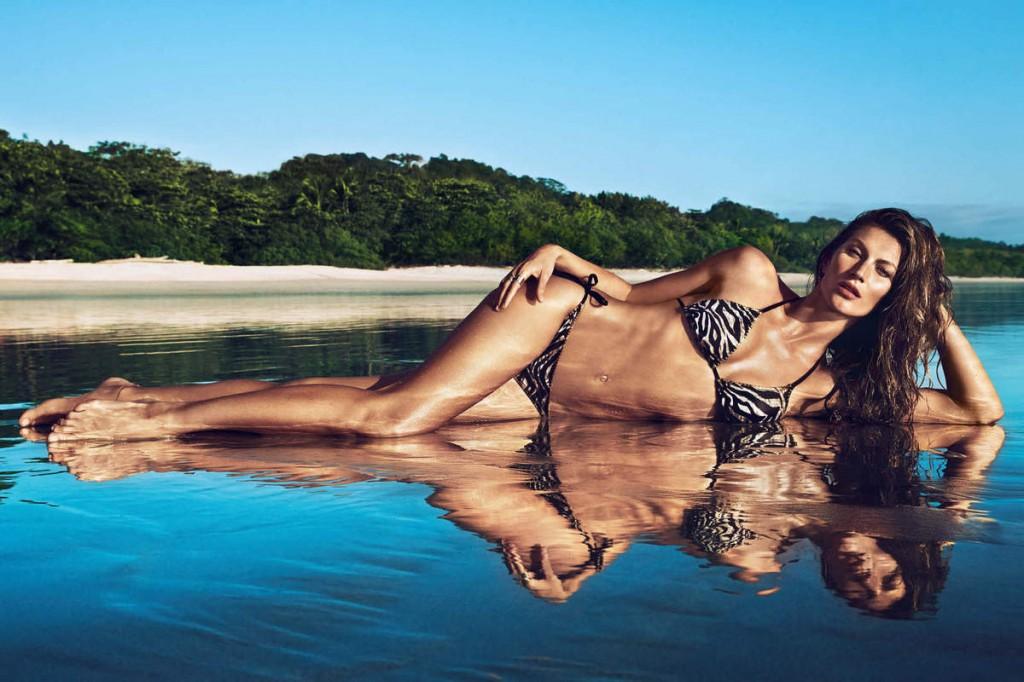 Gisèle Bündchen est l'égérie d'H&M pour la collection été 2014