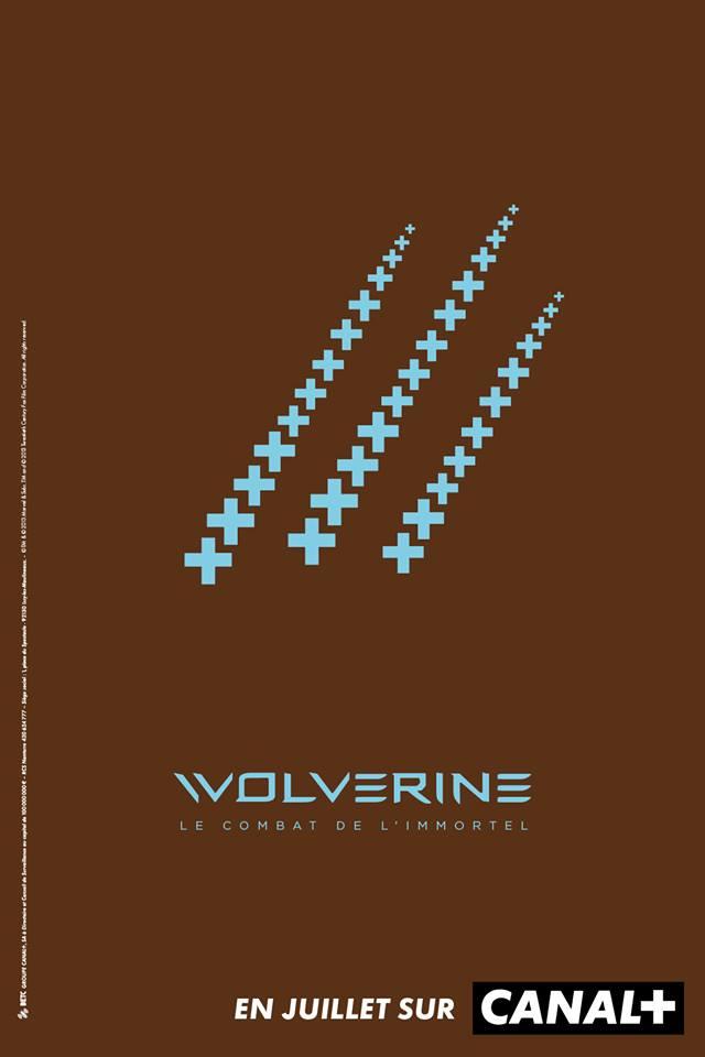 les griffes de Volverine symbolisées par les +