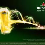 lumineux et rafraichissants les visuels retrace l'histoire d'Heineken