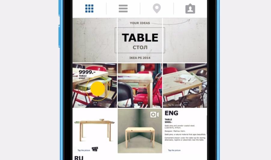 en cliquant sur le tag de la table, on arrive sur les différentes photos de la table en question