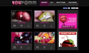 oasis a caché YouPomm dans le premier épisode, site de charme pour les fruits