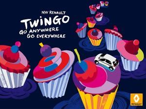 print cupcakes nouvelle renault twingo
