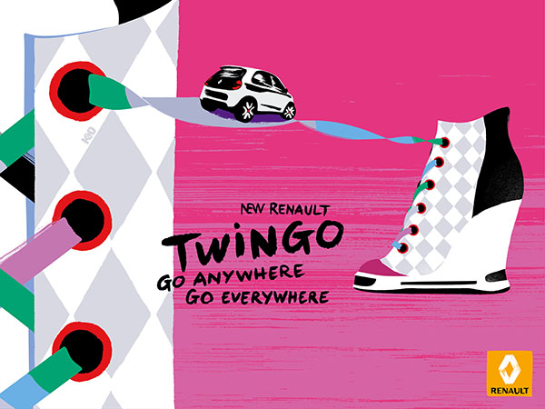 print sneakers renault twingo