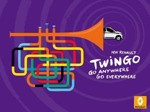 print trompette renault twingo