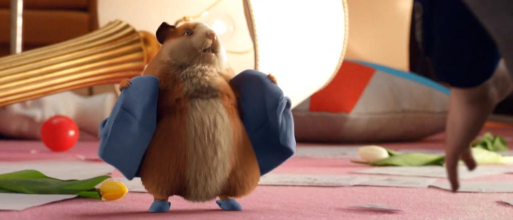 canalsat nous présente un hamster au caractère bien trempé et à la voix de depardieu