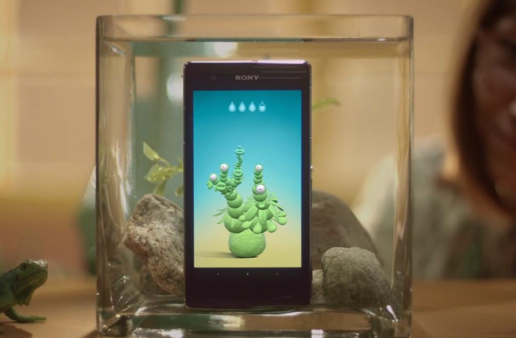 immergez votre smartphone sous l'eau et faites pousser une plante