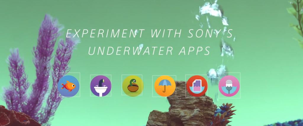 sony développe des applications a utiliser exclusivement sous l'eau