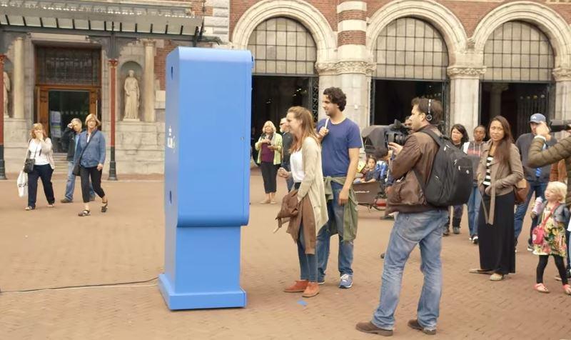 KLM installe une borne interactive à new york et amsterdam