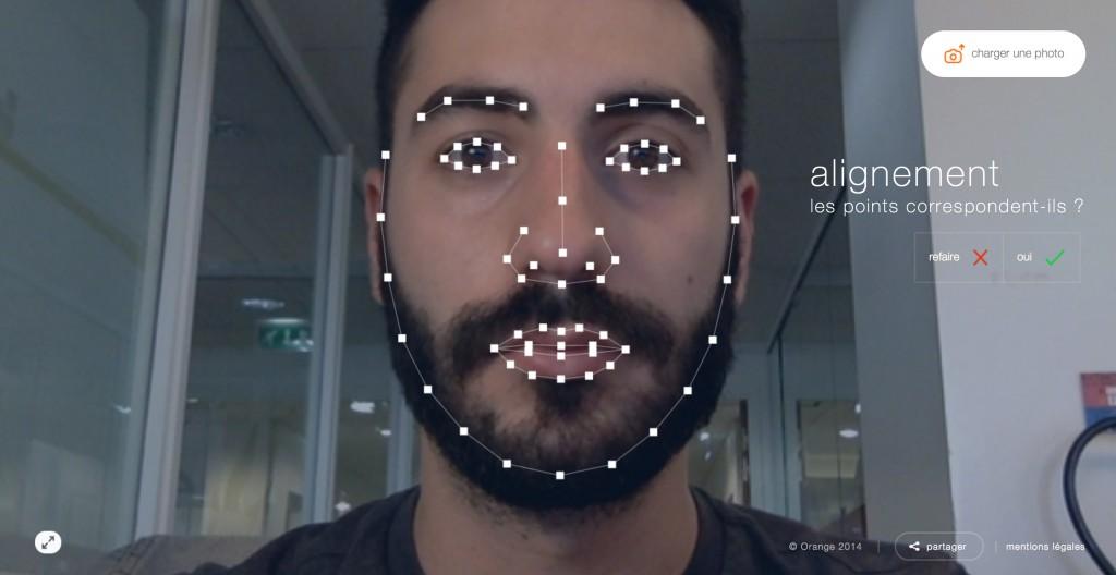 une expérience technologique qui s'appuie sur une modélisation du visage