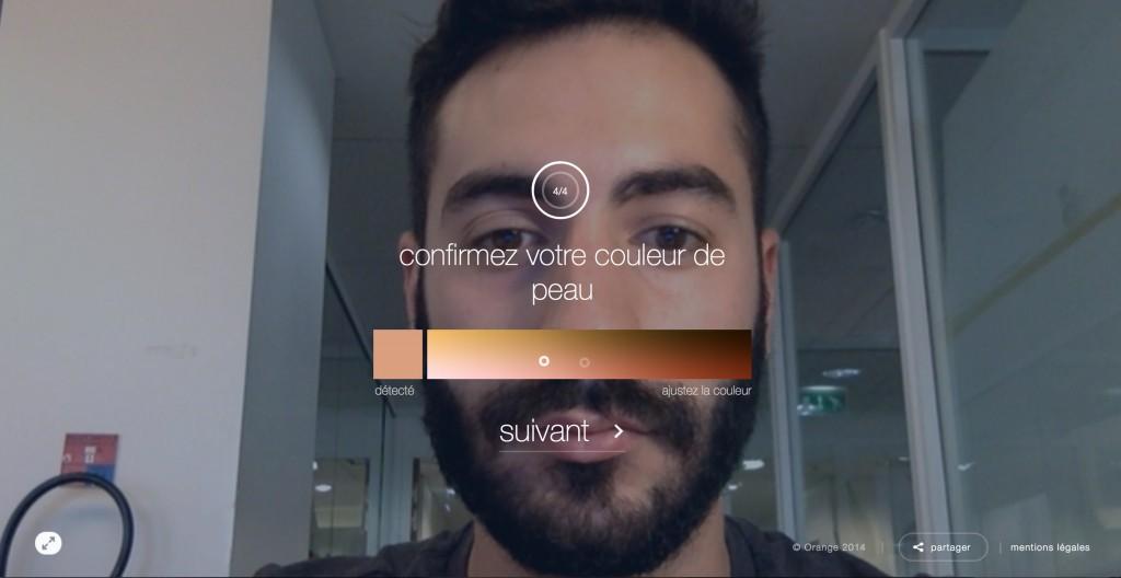une fois votre visage reconnue par la webcam, et quelques détails régler, la transformation peut alors commencer