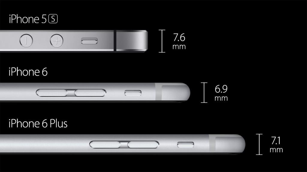 l'iphone et ses différentes épaisseurs