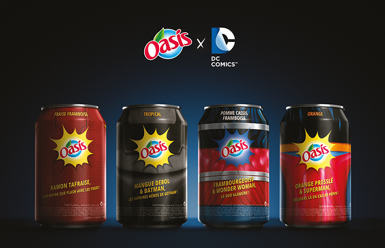 wonder woman, batman, The Flash ou encore superman, les fruits Oasis se transforment en super héros avec marcel