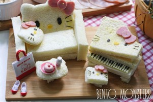 Li Ming et hello kitty en pain de mie