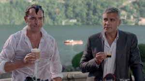 JEAN DUJARDIN ET GEORGES CLOONEY SE PARTAGE La nouvelle affiche d e Nespresso