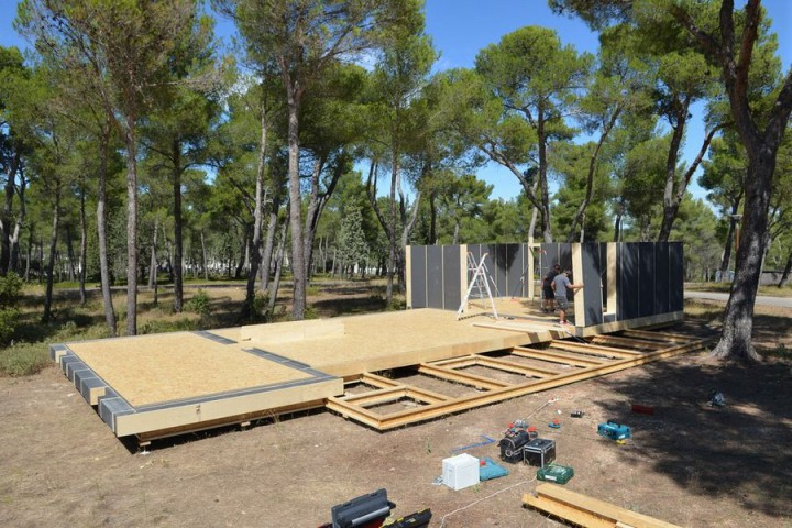 Les débuts de la construction