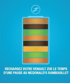 pour les grandes faims, il y a le big mac au mc do de rambouillet ou vous pourrez recharger votre Renault ZOE