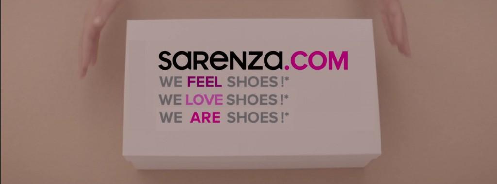 une nouvelle accroche qui affiche clairement l'amour inconditionnel de Sarenza pour les chaussures
