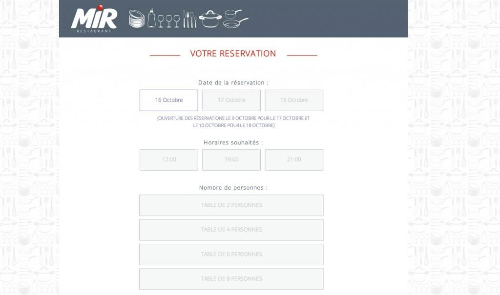 réservez vite votre table au Mir restaurant à Paris