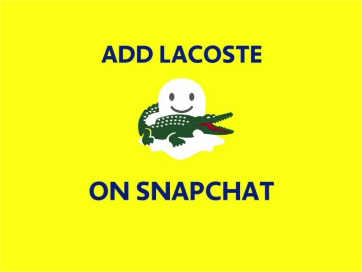 Partez à la chasse auxcrocodilesLacoste sur Snapchat
