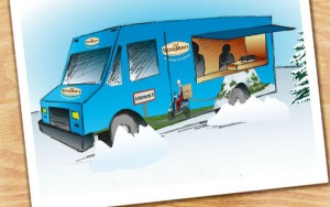 un food truck aux couleurs de RichesMonts qui va faire le tour des grandes villes de France du 10 novembre au 6 décembre