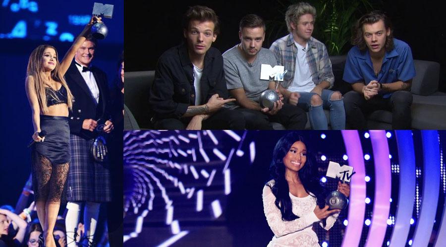 les grands gagnants des EMA 2014 sont les one direction avec quatre trophées