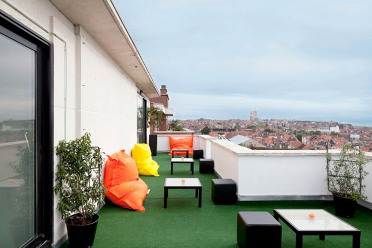 la terrasse colorée