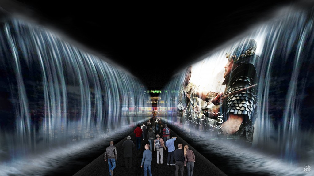 Ubi bene et la 20th century fox mettent en place deux murs d'eau géants pour la sortie du film Exodus