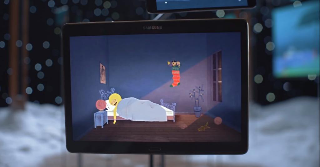 Samsung dévoile son conte de Noël à travers ses écrans