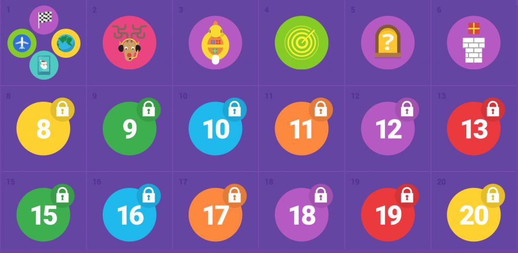 tel un calendrier de l'avent, google nous fait découvrir un jeu tous les jours