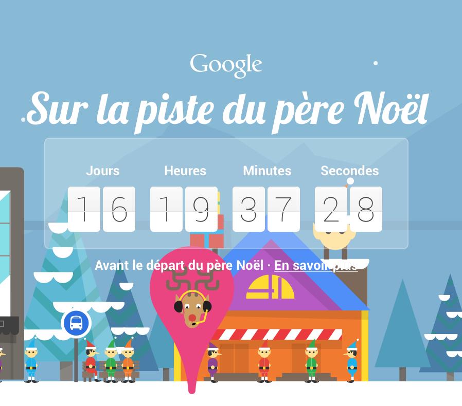 avec google patientez en vous amusant jusqu'au 24 décembre