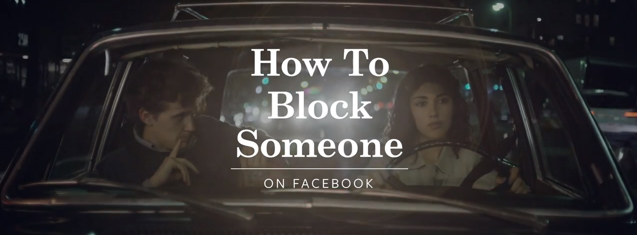 Facebook explique en images comment bloquer quelqu'un