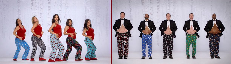 Kmart joue avec les ventres des hommes et les baby bump pour sa campagne de Noel