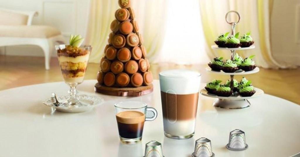 Nespresso et laurée s'associent pour la création de macarons et capsules de café unique