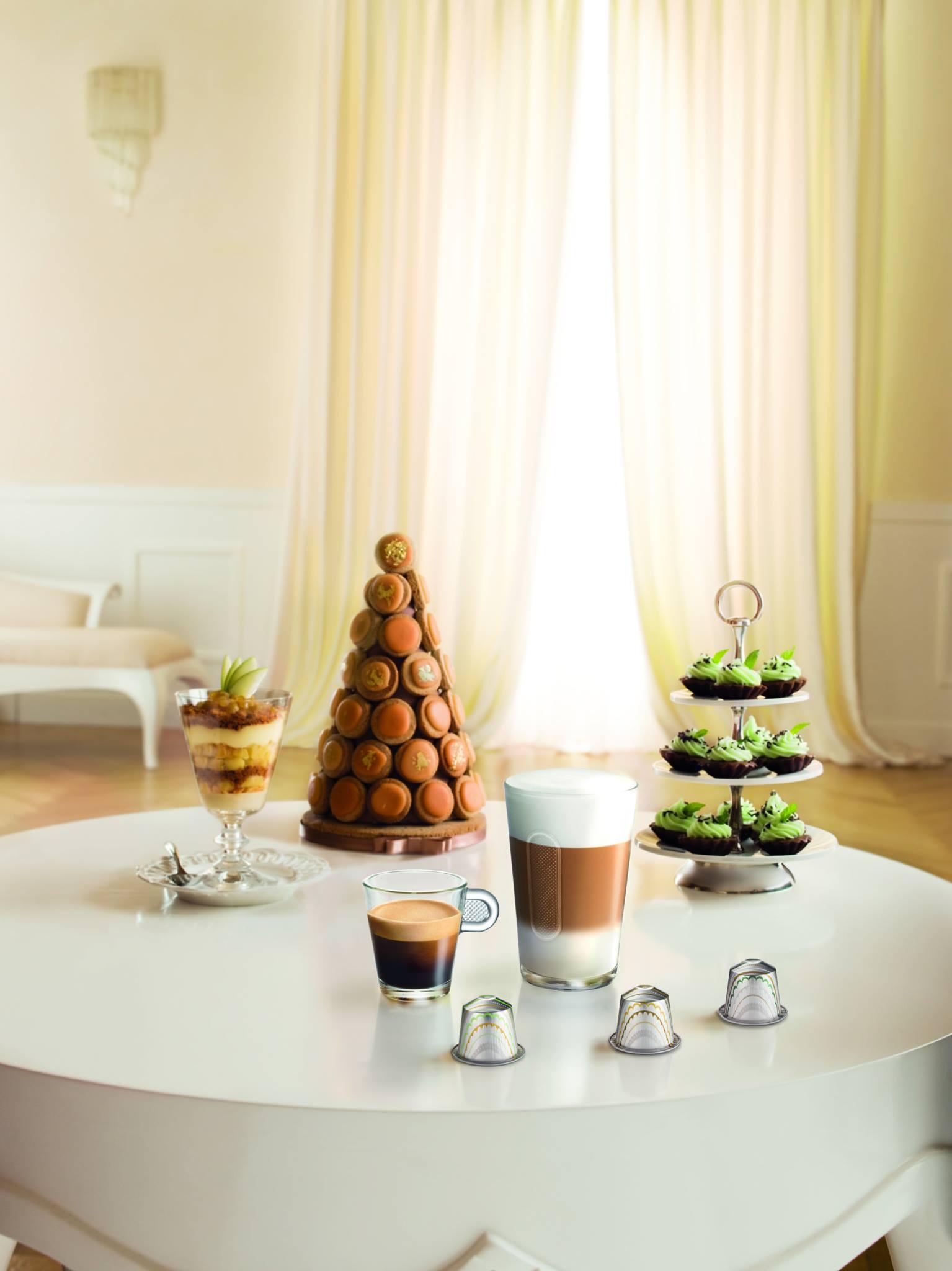 laurée et nespresso s'unissent pour la création de saveurs uniques chocolat menthe noisettes et curable aux pommes