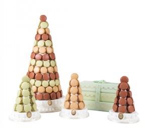 des macarons ladurée menthe chocolat, dessert noisette et curable aux pommes
