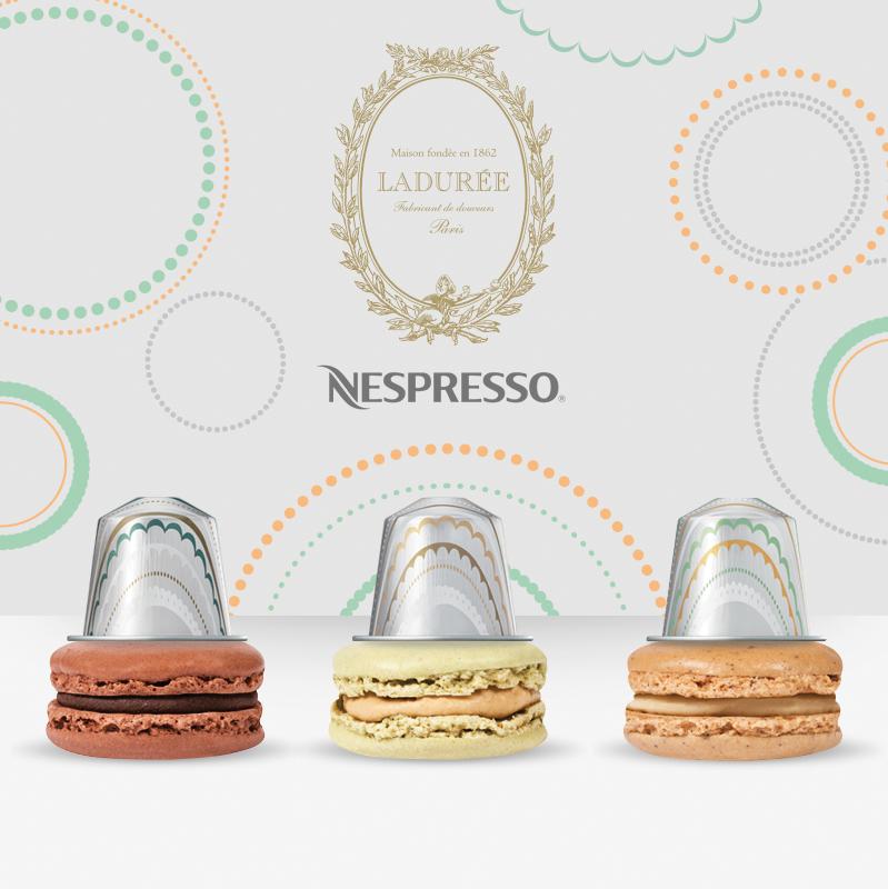 capsules de café nespresso menthe choco, noisettes et curable aux pommes