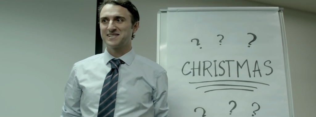 les équipes d'ogilvy ont fait un brainstorming d'équipe pour Noël