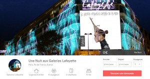 les galeries lafayette et airbnb se sont associées pour offrir une nuit magique à 6 convives la veille des soldes