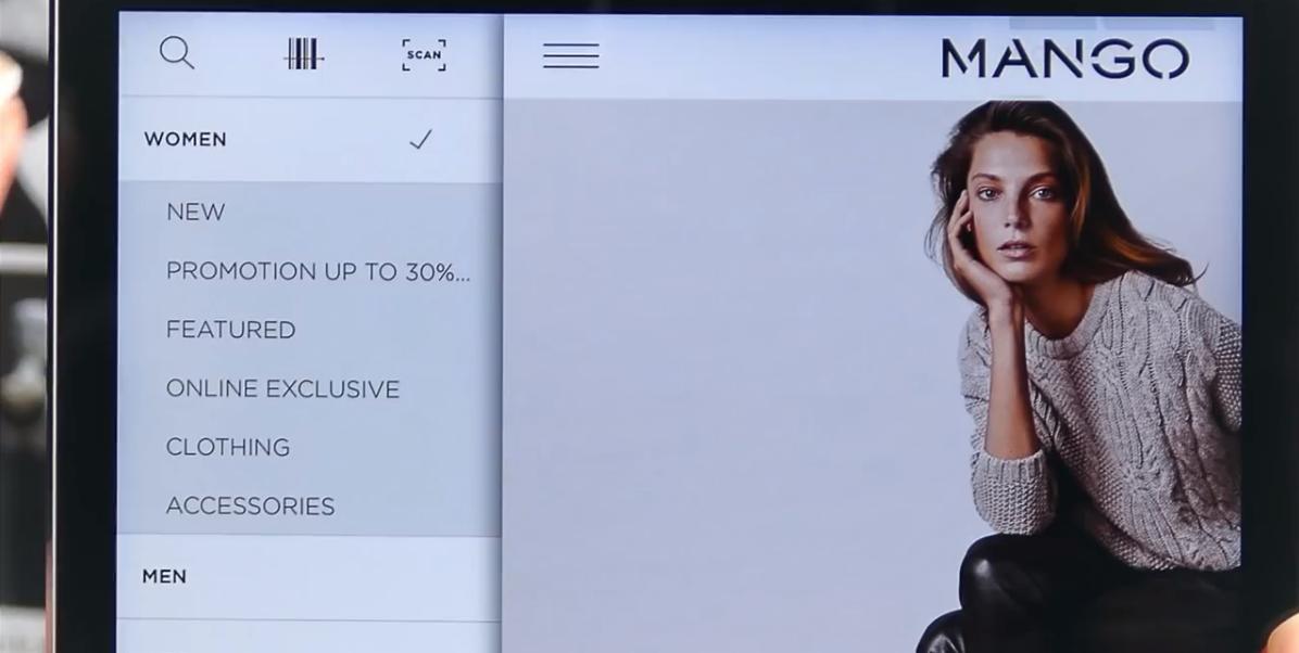 Mango installe la fonctionnalité Scan & Shop à son application mobile