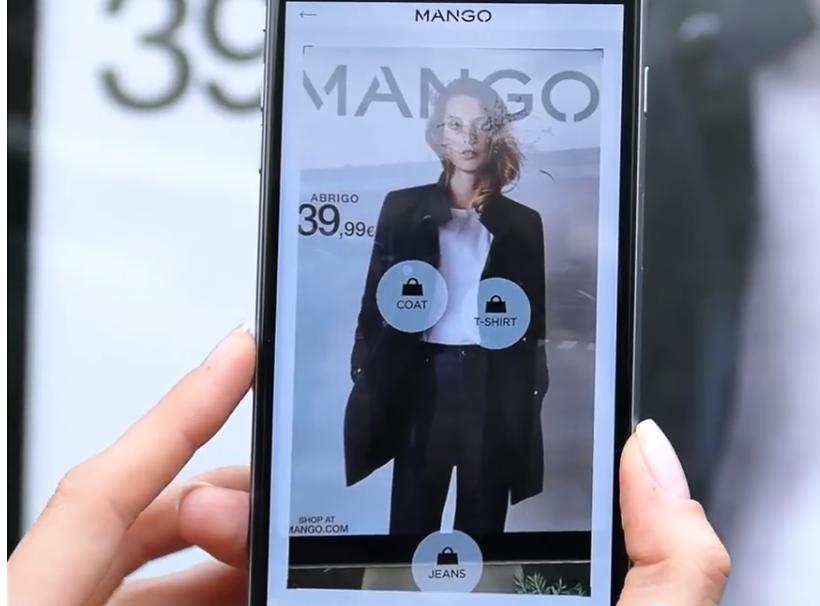 avec scan & shop mango permet aux shoppeuses et shoppeurs d'acheter leurs produits coup de coeur