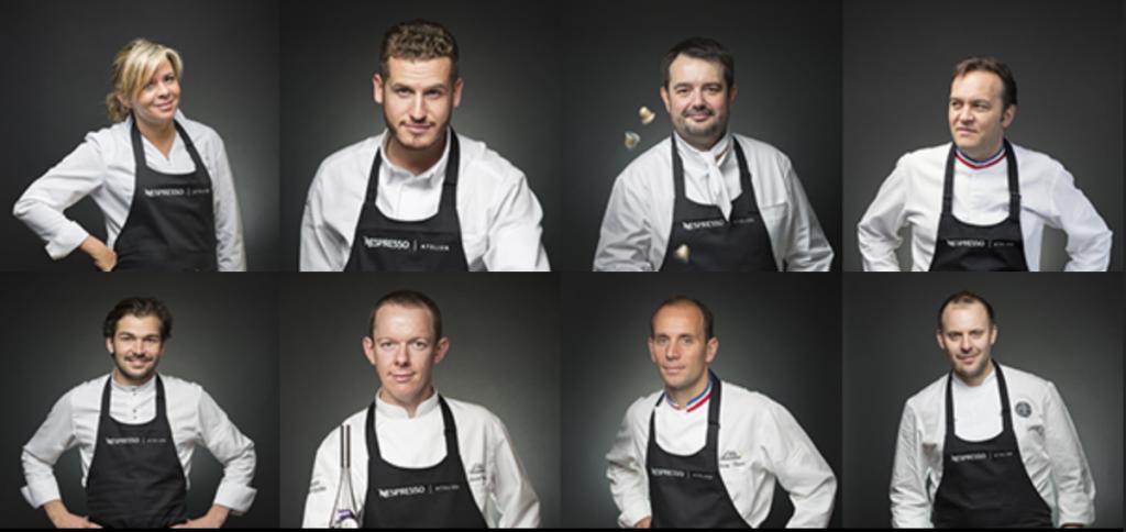 différents grands chefs et chefs pâtissiers vont venir créer des recettes à base d'un grand cru nespresso