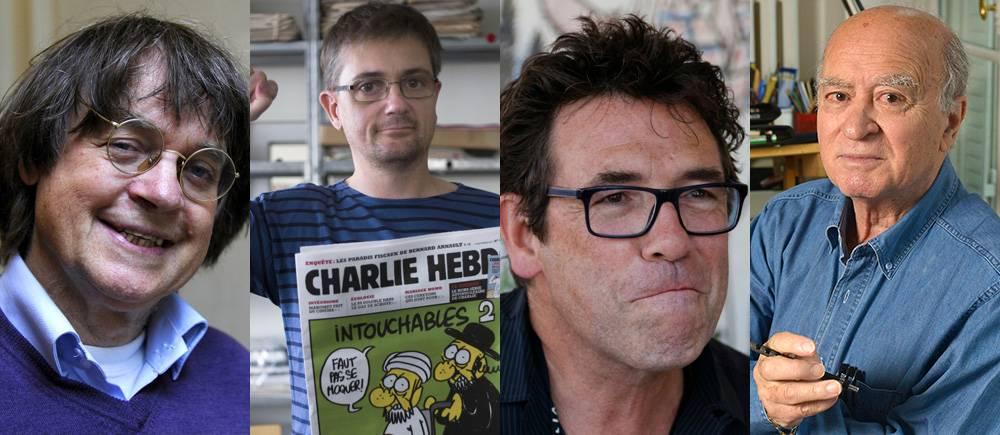 Les dessinateurs Charlie Hebdo morts le 7 janvier
