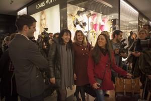 l'arrivée des gagnants dès 20H accueilli par les Galeries Lafayette